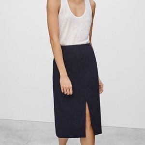 Aritzia Front and Back Slit Skirt